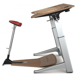 Focal upright furniture locus workstation standing desk for Locus seat and desk