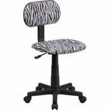 Flash Furniture Black and White Zebra Print Computer Chair