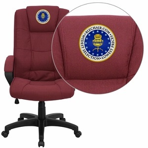 flash furniture embroidered high back burgundy fabric executive
