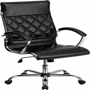 Flash Furniture High Back Designer Black Leather Executive Office