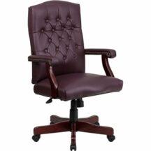 Flash Furniture Martha Washington Burgundy Leather Executive Swivel Chair