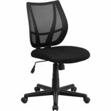 Flash Furniture Mid-Back Black Mesh Task Chair