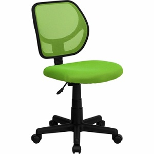 Flash Furniture Mid Back Green Mesh Task Chair And