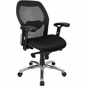 flash furniture mid back super mesh office chair with black fabric