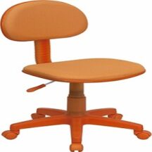 Flash Furniture Orange Fabric Ergonomic Task Chair
