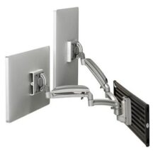 Symmetry Slat Wall Series Double Monitor Arm