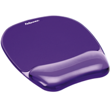 Fellowes Gel Crystals Mousepad Wrist Rest - Purple
