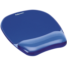 Fellowes Gel Mousepad Wrist Rest - Crystals Blue