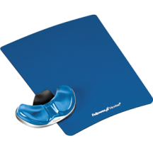 Fellowes Gliding Palm Support with Microban Protection - Blue