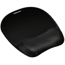 Fellowes Memory Foam Mouse Pad Wrist Rest- Black