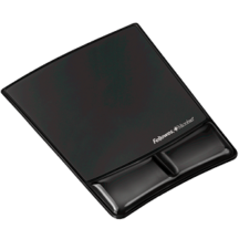 Fellowes Mouse Pad Wrist Support with Microban Protection - Black