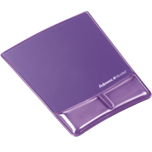 Fellowes Mouse Pad Wrist Support with Microban Protection - Purple