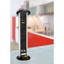Richelieu Ergonomics 2 Plug Pop Up Power Bar