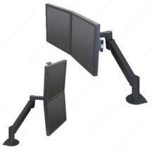 Richelieu Ergonomics Dual LCD Arm with Vertical Horizontal Positioning