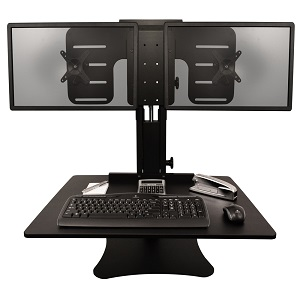 Victor Tech Dc350 High Rise Dual Monitor Sit Stand Desk