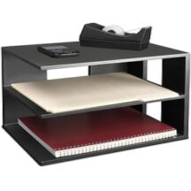 Victor Tech 11205 Midnight Black Corner Shelf