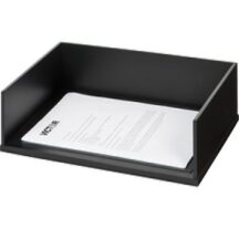 Victor Tech 11545 Midnight Black Stacking Letter Tray