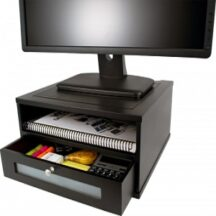 Victor Tech 11755 Midnight Black Monitor Riser