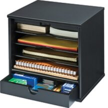 Victor Tech 47205 Midnight Black Desktop Organizer