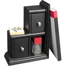 Victor Tech 89015 Midnight Black Reversible Book End