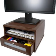 Victor Tech B1175 Mocha Brown Monitor Riser