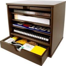 Victor Tech B4720 Mocha Brown Desktop Organizer