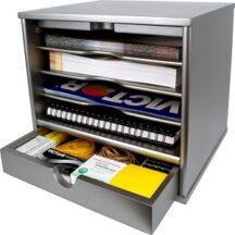 Victor Tech S4720 Classic Silver Desktop Organizer