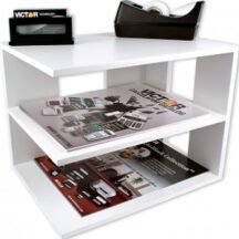 Victor Tech W1120 Pure White Corner Shelf