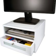 Victor Tech W1175 Pure White Monitor Riser