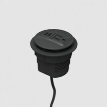 iMovr Grommet Mounted Power Node Dual USB Single AC