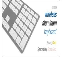 Matias Ergonomics Wireless Aluminum keyboard
