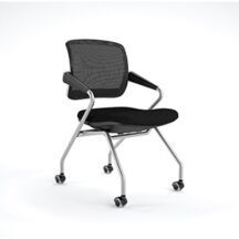 Mayline Valore Mid Back Chair w Arms