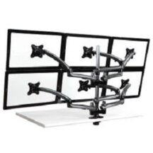 Cotytech 6 Monitor Stand 3X2 w Spring Arms Dark Gray