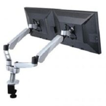 Cotytech Dual Monitor Desk Mount w Spring Arms and Short Pole