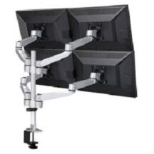 Cotytech Quad Monitor Stand w Swiveling Arms and Quick Release