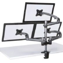 Cotytech Triple Monitor Desk Mount w Spring Arms Dark Gray