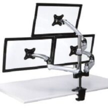 Cotytech Triple Monitor Desk Mount w Spring Arms Silver