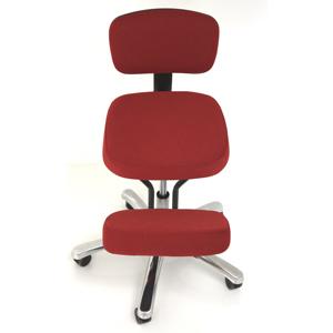 jobri betterposture knee jazzy kneeling chair red bp1446rd