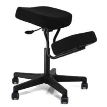 Jobri BetterPosture Solace Plus Kneeling Chair with Memory Foam Black BP1445BK