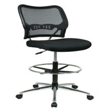 Office Star 13-37P500D Deluxe Dark AirGrid Back Drafting Chair