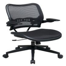 Office Star 13-77N1P3 Deluxe Dark AirGrid Seat and Back Chair