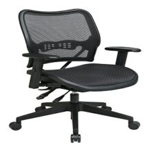 Office Star 13-77N9WA Deluxe Dark AirGrid Seat and Back Chair