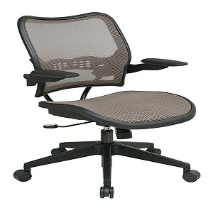 Office Star 13 88N1P3 Deluxe Latte AirGrid Seat And Back Chair