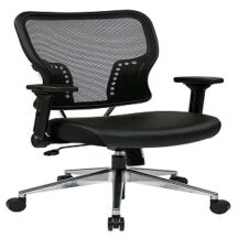 Office Star 213-E37P91F3 AirGrid Back and Padded Eco Leather Seat Chair