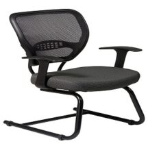 Office Star 55-7V30 Professional Dark Air Grid Back Visitors Chair