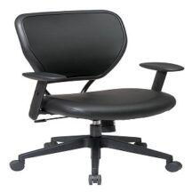 Office Star 5500V Black Vinyl Over Air Grid Back Managers Chair