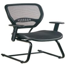 Office Star 5565 Professional Dark Air Grid Seat and Back Visitors Chair