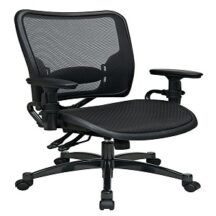 Office Star 6236 Dual Function Dark Air Grid Seat and Back Managers Chair