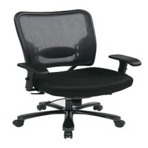 Office Star 75-7A773 Double Air Grid Back and Custom Fabric Seat Ergonomic Chair
