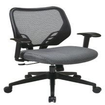 Office Star 81-V47N18P Dark Air Grid Back and Charcoal VeraFlex Seat Manager's Chair
